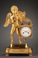 Marchand--sucreries-Pendule-bronze